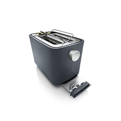 CARRERA 552 Toaster mit integriertem Brötchenaufsatz | 860 W, Quarzglasheizung, Digitale Steuereinheit, 9 Feinabstufungen und optische Countdown-Funktion | 2 Scheiben -