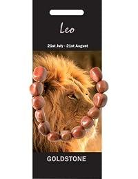 Leo piedra pulsera–rojo Goldstone