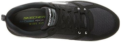 Skechers Flex Advantage 2.0, Scarpe Sportive Outdoor Uomo Black/White