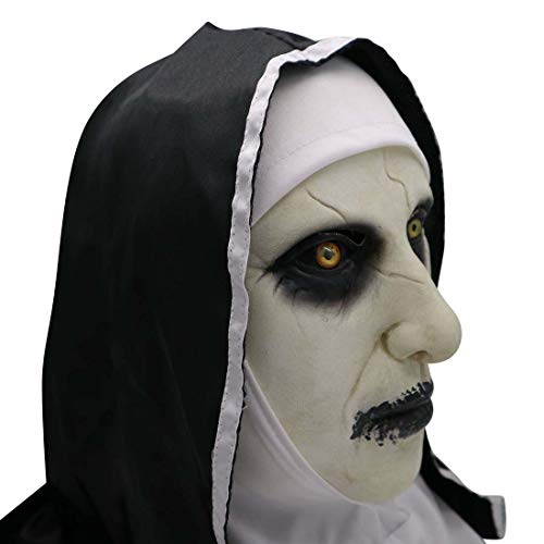 YK Grimace Halloween Scary Latex Mask Sister Virgin Mary Performing Masquerade Dress Up The Conjuring 2 Terrorist Props (To shut up)