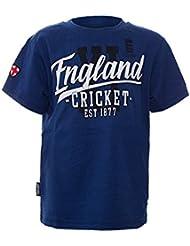 BCE Inglaterra Cricket niños guión Tee–azul cobalto (5–6yrs)