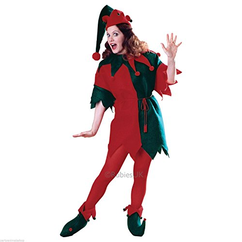 Rubies Costume Co 26600R Elf Tunika Set Rot Gr-n (Rubies Weihnachtsmann Kostüm)