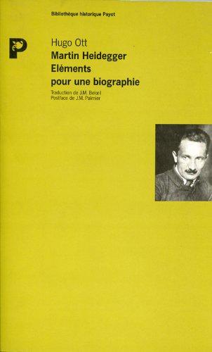 Martin Heidegger, lments pour une biographie