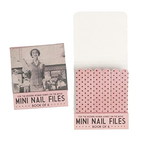 Set Of 6 Matchbook Mini Nail Files - Choice Of