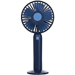 YWLINK Mode Mini Ventilateur de Poche, Main Ventilateur de USB Rechargeable Portable Silencieux, Ventilateur à Piles pour la Maison, Le Bureau, Le Camping et Les Voyages(Dark Bleu)