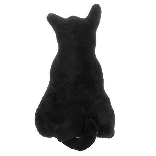 VANKER 45cm Peluche gato juguete Volver Shadow super lindo para sofá Cojín almohada,mejores regalos de cumpleaños para los niñas Niños -- Negro
