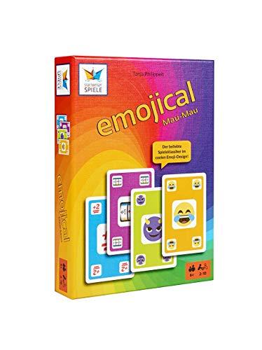 Starnberger Spiele - Emojical Mau-Mau - Spaßiges Kartenspiel für die ganze Familie - Geschenkidee für Emoji-Fans und Teenager