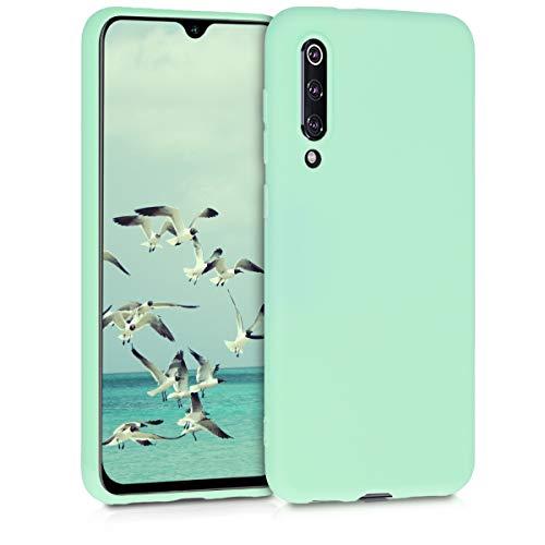 kwmobile Funda para Xiaomi Mi 9 SE - Carcasa para móvil en TPU Silicona - Protector Trasero en Menta Mate