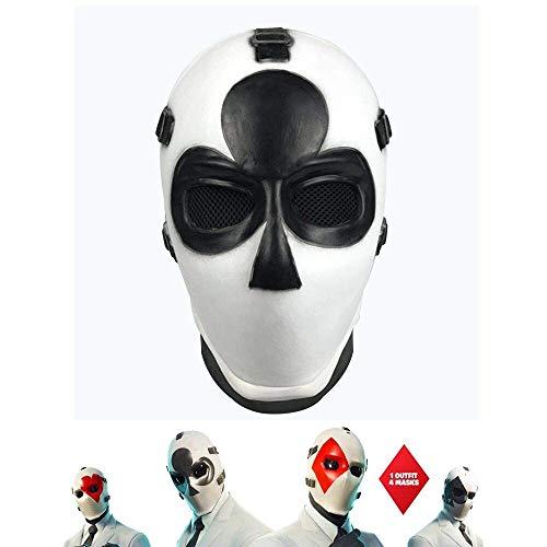Vercico Poker Máscara de Carnaval de Navidad d'Año Nuevo de Hallowee