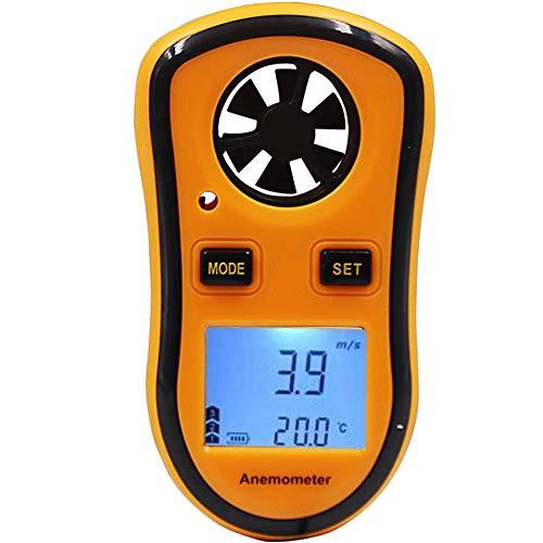 Fishtec ® Digitaler Anemometer - Windgeschwindigkeit / Temperatur / Beaufort-Skala - Ideal zum Segeln, Angeln, Kiten und Bergsteigen