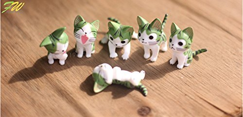 SOJITRA 4 CM Miniature Cute Cats Toy Set-6pcs/lot