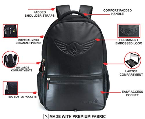 AUXTER Blacky 30 LTR School Bag Casual Backpack with Laptop Compartment Image 2
