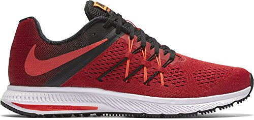Nike Uomo Zoom Winflo 3 Scarpe Running Rojo (University Red / Total Crimson-Black-White)