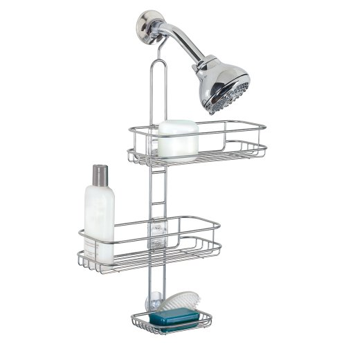 interdesign-linea-adjustable-shower-caddy-silver