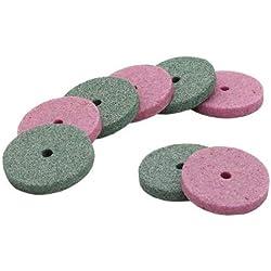 UCTOP Store Lot de 50 mini forets abrasifs pour meuleuse de meulage 25 rose/25 verts