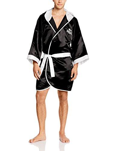 Lonsdale-Guantes de Boxeo para Hombre 'Concurso Albornoz/Albornoz, Unisex, Boxen-Wettbewerb Robe/Kleid, Blanco y Negro