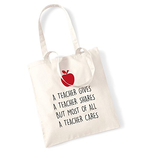 Insegnante di un insegnante Quote Ma Soprattutto un insegnante Cares Borsa Natural