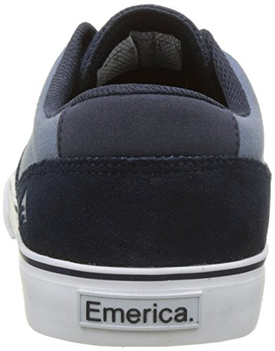 Emerica Provost Slim Vulc Navy Blue WH, Chaussures de Skateboard Homme Multicolore (Navy Blue White 424)