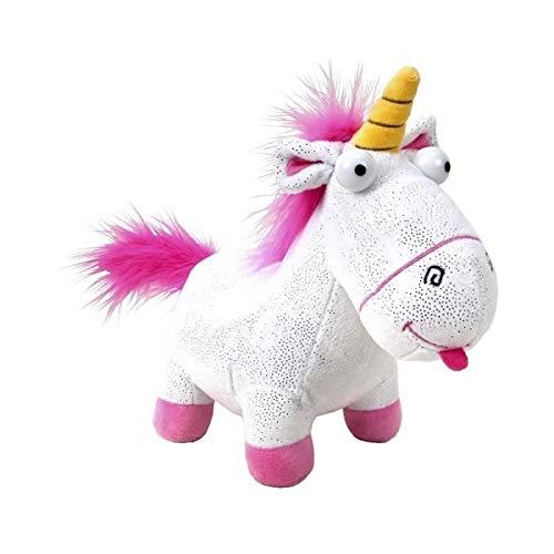 Felpa Mullido Fluffy Unicornio Glitter y Gran versión de 30 cm - Original Plush Despicable Me Minions - GRU, mi Villano Favorito