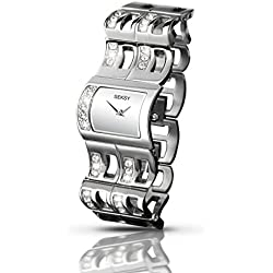 Seksy Women's Quartz Watch with Silver Dial Analogue Display and Silver Stainless Steel Bracelet 2110.73