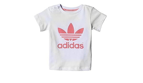 51649f1f484 adidas adidas Originals Adicolor Baby Trefoil Tee Kinder Freizeit T-Shirt  Weiss ROSA
