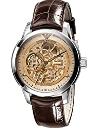 Emporio Armani Meccanico Cœur ouvert pour homme Bracelet cuir Marron montre ab5525d1e82
