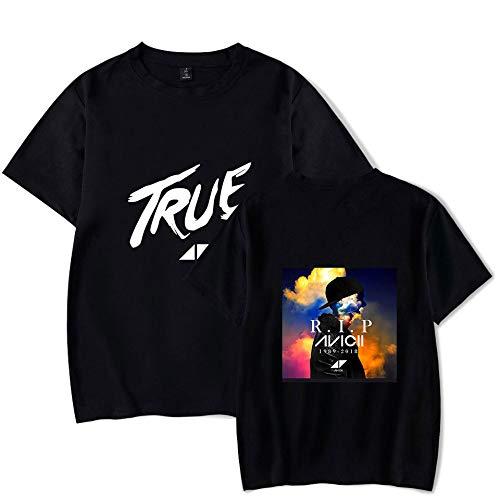 INSTO T-Shirt Mode 3D Drucken Kurz Ärmel T-Stück Dj Avicii Gedruckt Unterhemd Unisex Groß Größe Lose / A2 / M