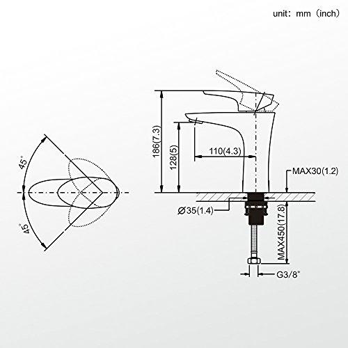 Homelody – Elegante Waschbecken-Armatur, Einhebelmischer, ohne Ablaufgarnitur, SoftClosing, Weiß-Chrom - 6