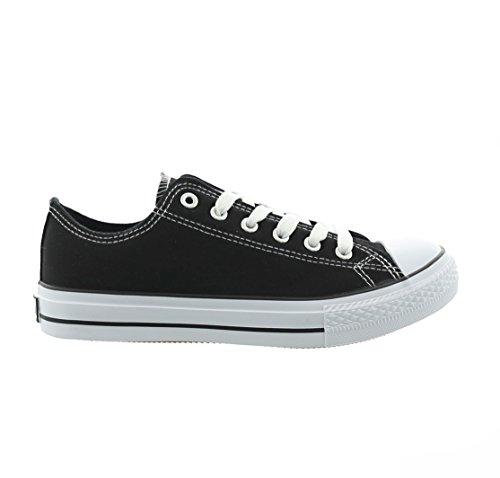 Unisex Preto Preto Jumex Senhoras Sapatos Sapatilhas Lazer Lace Mulheres ups Txqtw4I