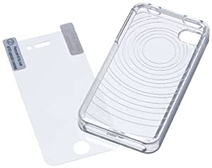 AmazonBasics Clear Protective Skin for Apple iPhone 4 and 4S
