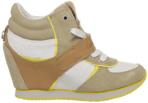 Calvin Klein Jeans Viridiana Suede Nylon Vacchetta Patent, Chaussures de ville femme Ivoire (Chy)