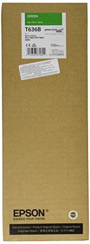 Epson T636B C13T636B00 - Cartouche d'encre d'origine - Vert (Green) pour Stylus Pro - 700ml