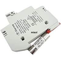 MISOL 1 unit of PV solar fuse 10A 1000VDC fusible 10x38 gPV, with holder/