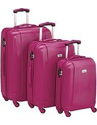 Fabrizio Luggage Sets  10143-2200-S M L Pink 80.0 liters