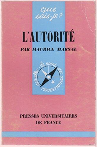 L'autorité par Maurice Marsal