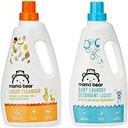 Amazon Brand - Mama Bear Plant Based Baby Laundry Detergent & Liquid Cleanser Combo -