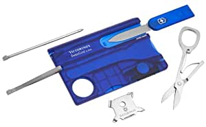 Victorinox Multitool SwissCard Lite Saphir transparent LED weiss 0.7322.T2