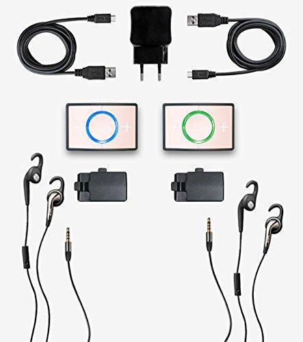 Ceecoach Kit Duo Bluetooth Kommunikation Und Gegensprechanlage Für Reitsport Wintersport Industrie, rosa, One Size