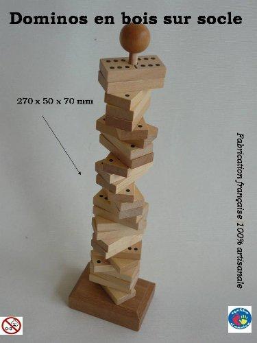 Jeu de domino en bois naturel sur tige
