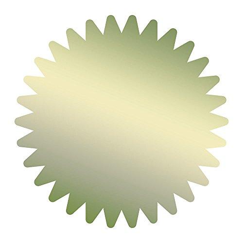 Tolles Papier. Starburst Gold Folie Zertifikat Dichtung, 4,4cm 100Count (949351) (Gold-folie-zertifikat Dichtungen)