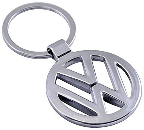 iTech ® Volkswagen VW Chrome Metal Car Logo Keyring Key Fob Keychain
