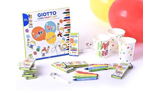 Giotto Party 3110000 - Set de ceras para fiestas, 10 x 4, 4 colores surtidos