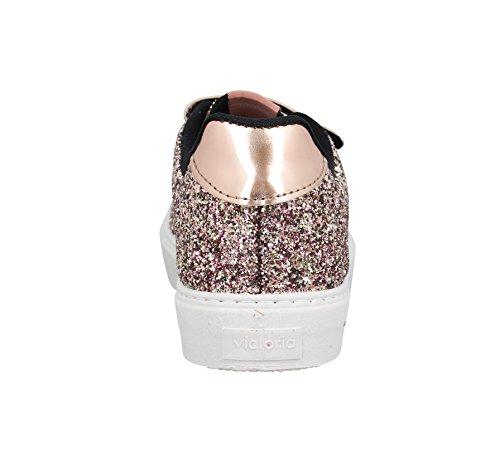 Victoria Deportivo Velcros Glitter, Scarpe da Ginnastica Basse Donna Rose