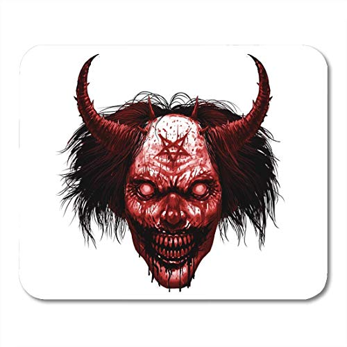 Mouse Pads Red Face Hell Evil Smiling Payaso Maquillaje