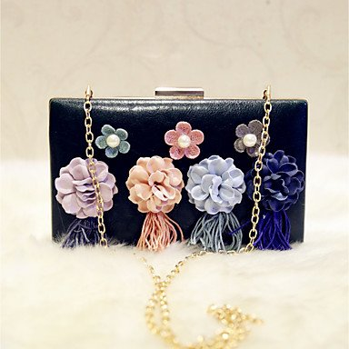 Frauen Abend Tasche PU All Seasons Event / Party and Party & Amp; abends Club Baguette Blume magnetische Dunkelgrün Rot Rosa Schwarz Weiss Dark Green