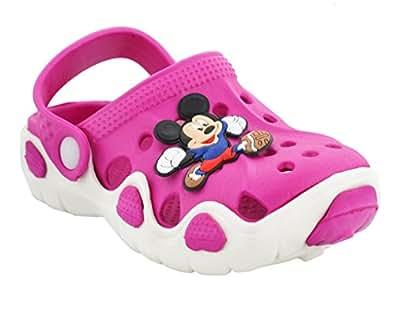 Lil Firestar Unisex Eva Sandals Shoes Clogs_ (6 Months to 9 Months)_Dark Pink_2CUK/20EU