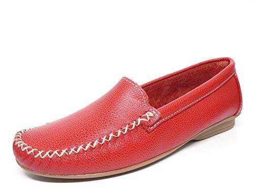 Deltell , Mocassins pour femme Rouge