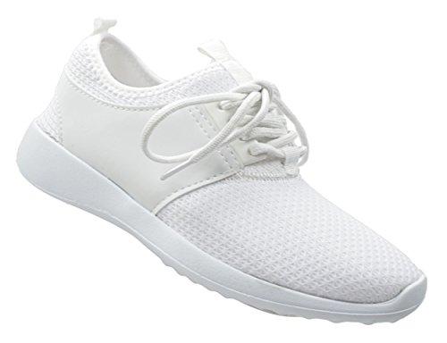 CAPRIUM Unisex Sportschuhe, Sneaker, Laufschuhe, Schuhe, Damen, Herren 11374 Weiß
