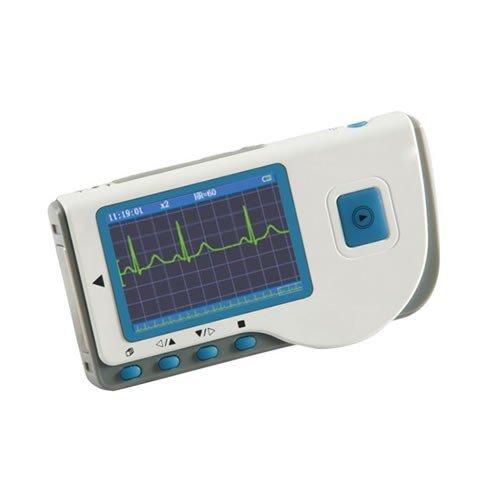 Tragbare ECG / EKG Monitor mit Farb-LCD-Bildschirm (Modell PC-80B-Global-Care-Market) + 25 Stück Packung von Premium-Fabric-Elektroden
