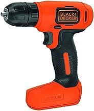 Black+Decker 7.2V Li-Ion Cordless Electric Compact Drill Driver for Screwdriving & Fastening, Orange/Black